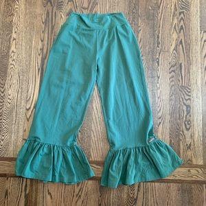 Pants - Stiles Jane cropped ruffle pants